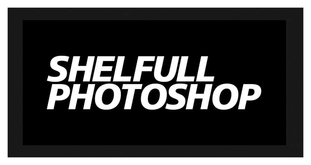 「SHELFULL PHOTOSHOP」というテキストを入力