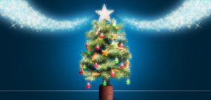 キラキラブラシを使ってクリスマス気分を演出