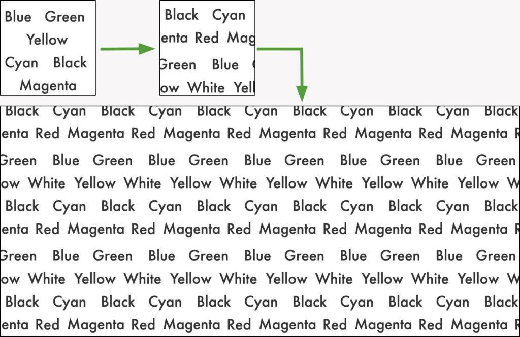 テキストバージョンのパターンを作成