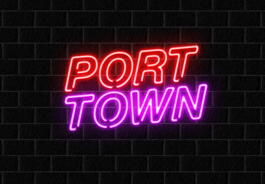 下の文字「TOWN」にも設定