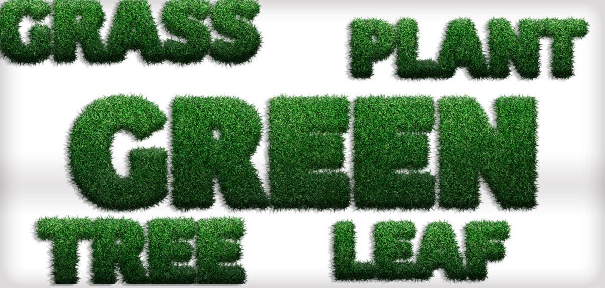 Photoshopで芝生で覆われたような文字を作る